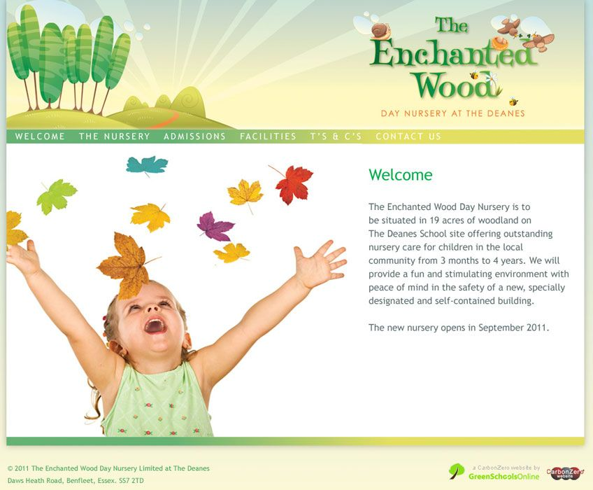 Enlarge Enchanted Wood Nursery website design