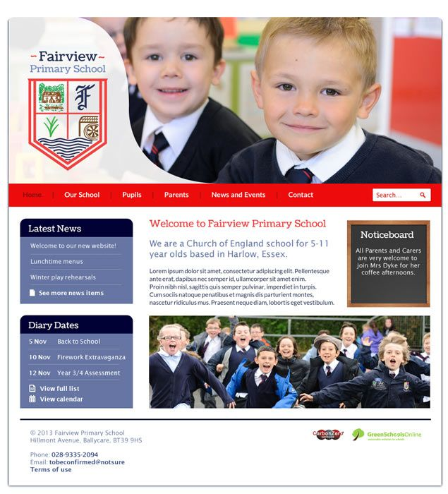 Enlarge Fairview Primary School website design