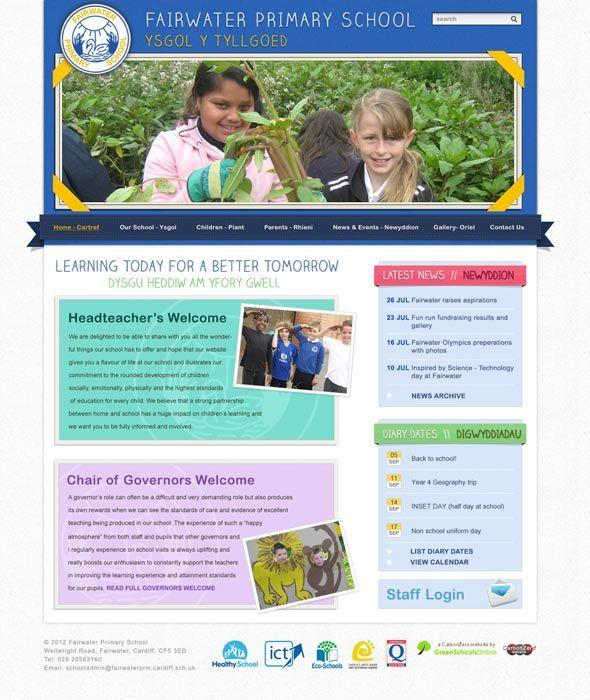 Enlarge Fairwater Primary School website design