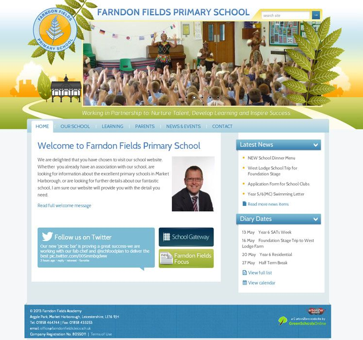 Enlarge Farndon Fields Primary School website design