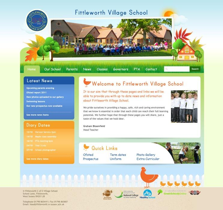 Enlarge Fittleworth Village School website design