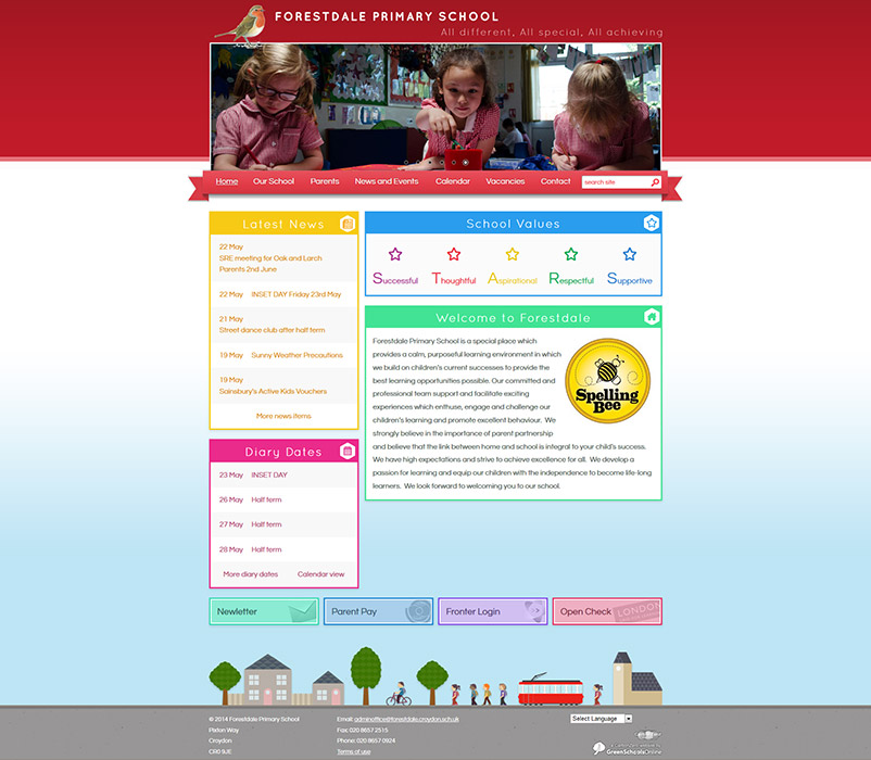 Enlarge Forestdale Primary School website design