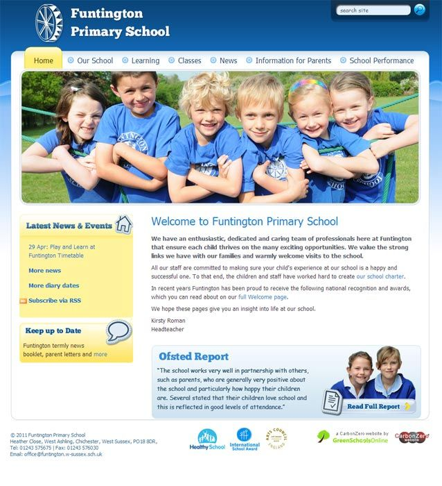 Enlarge Funtington Primary School website design