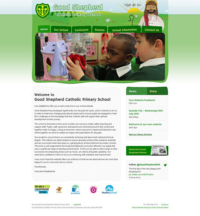 Enlarge Good Shepherd Catholic Primary School website design