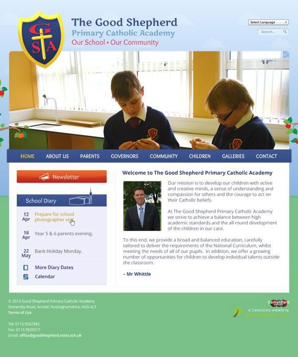 Enlarge Good Shepherd Primary Catholic Academy website design