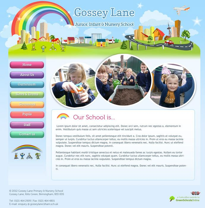 Enlarge Gossey Lane website design