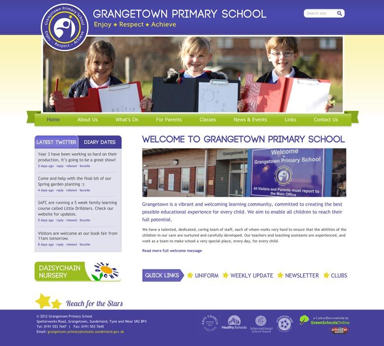 Enlarge Grangetown Primary School website design