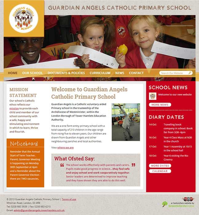 Enlarge Guardian Angels Catholic Primary School website design