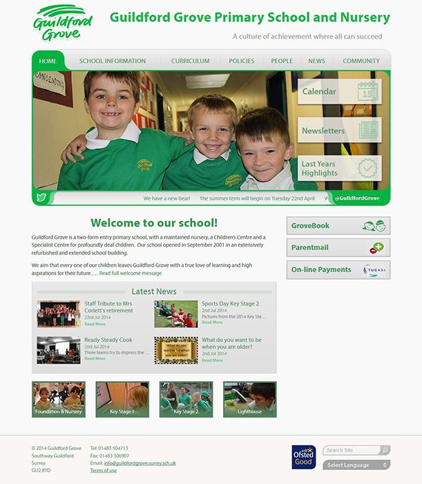 Enlarge Guildford Grove Primary School and Nursery website design