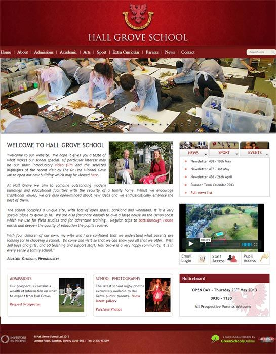 Enlarge Hall Grove website design