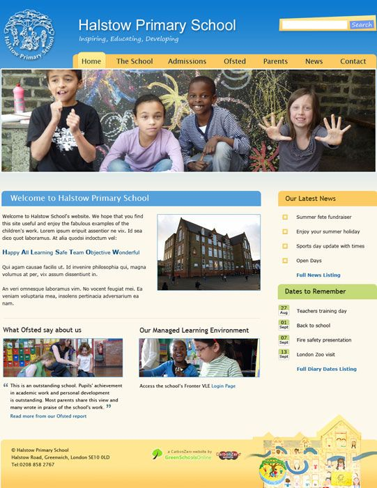 Enlarge Halstow School website design