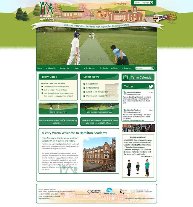 Enlarge Hamilton Academy website design