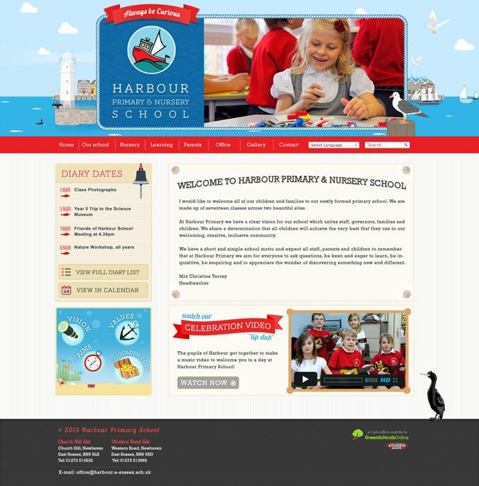 Enlarge Harbour Primary & Infant School website design