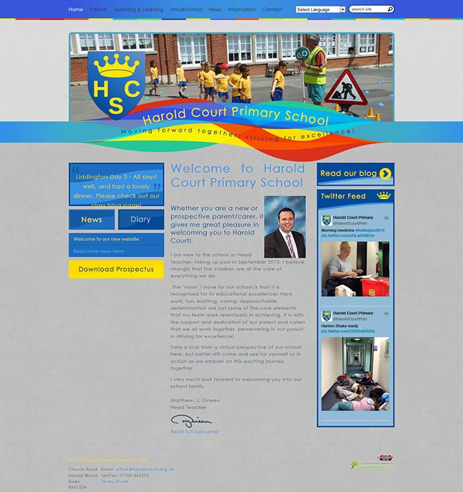 Enlarge Harold Court Primary School website design