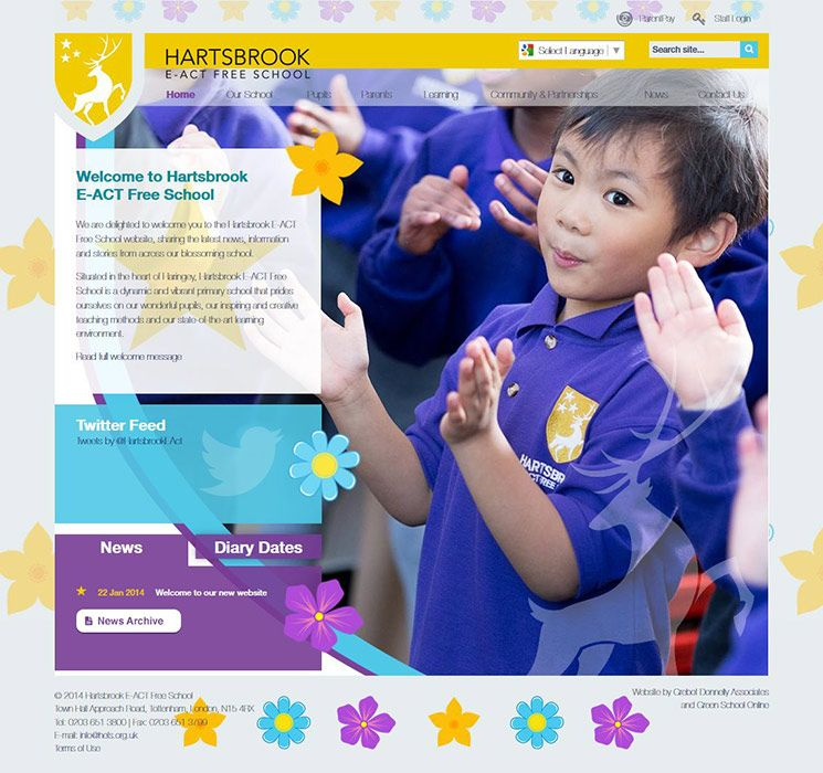 Enlarge Hartsbrook E-ACT Free School website design