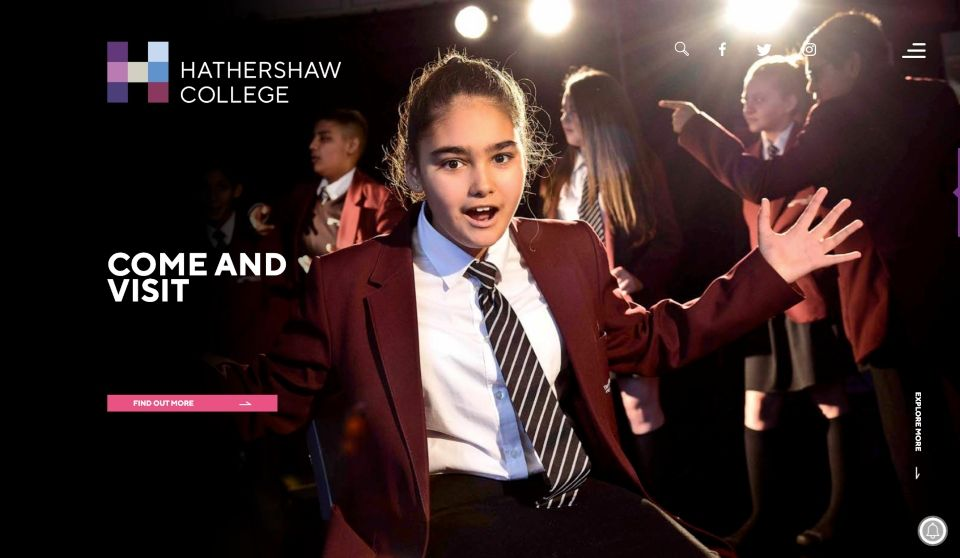 Enlarge Hathershaw College website design