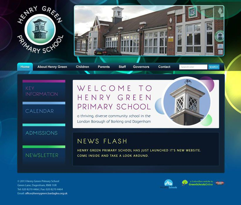 Enlarge Henry Green Primary School website design