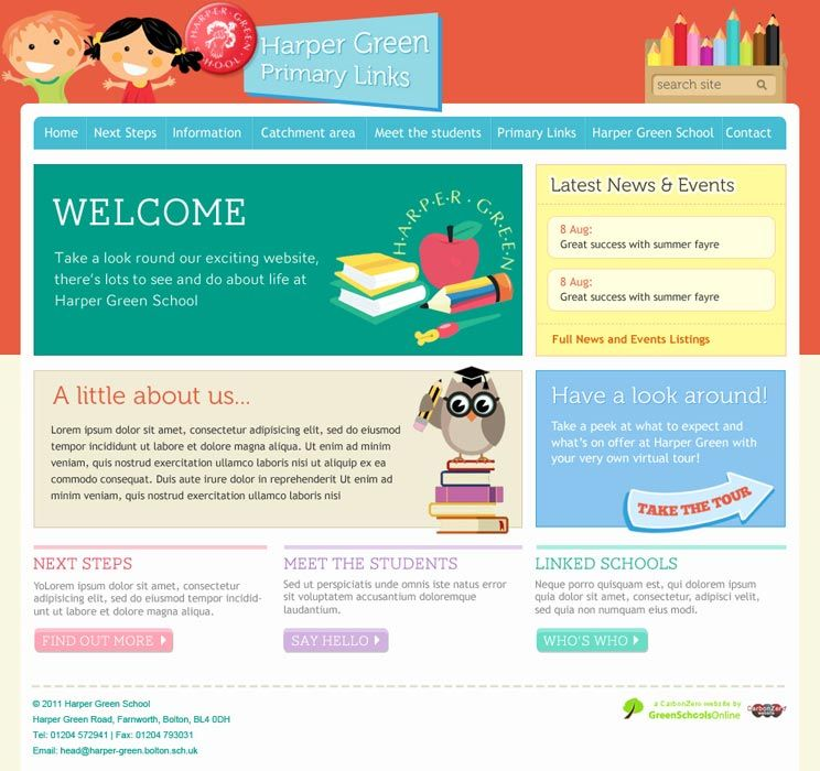 Enlarge Harper Green Primary Links website design