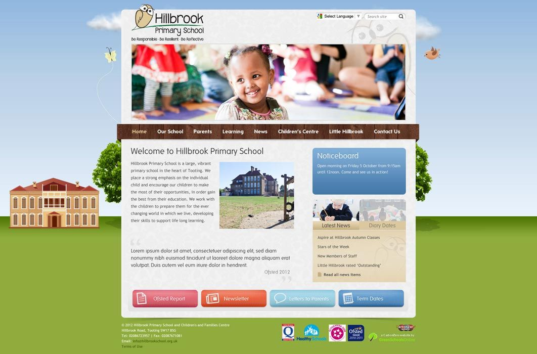Enlarge Hillbrook Primary School website design