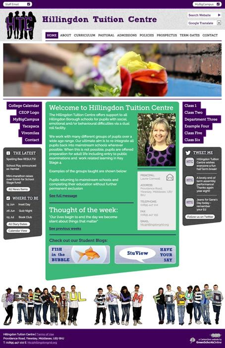 Enlarge Hillingdon Tuition Centre website design