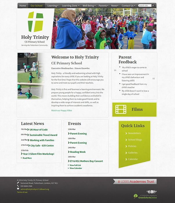 Enlarge Holy Trinity CE Primary School website design