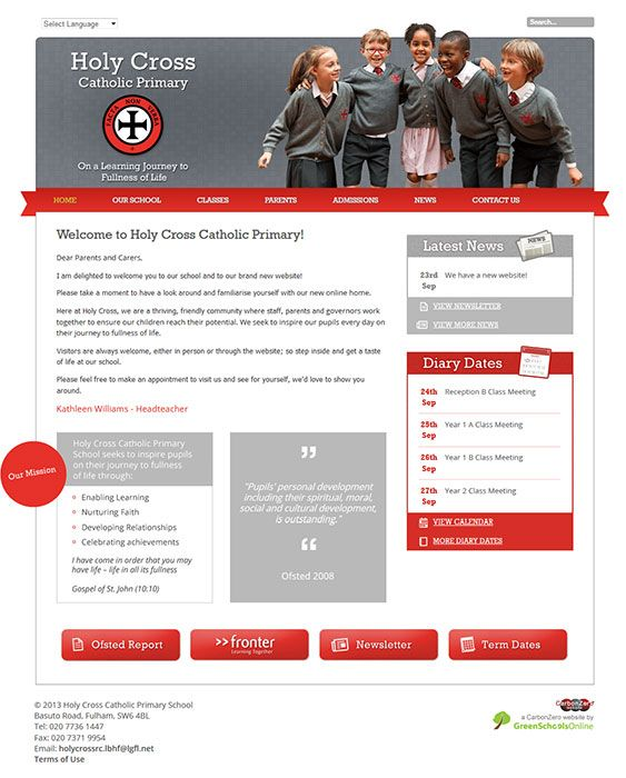 Enlarge Holy Cross R.C. Primary website design