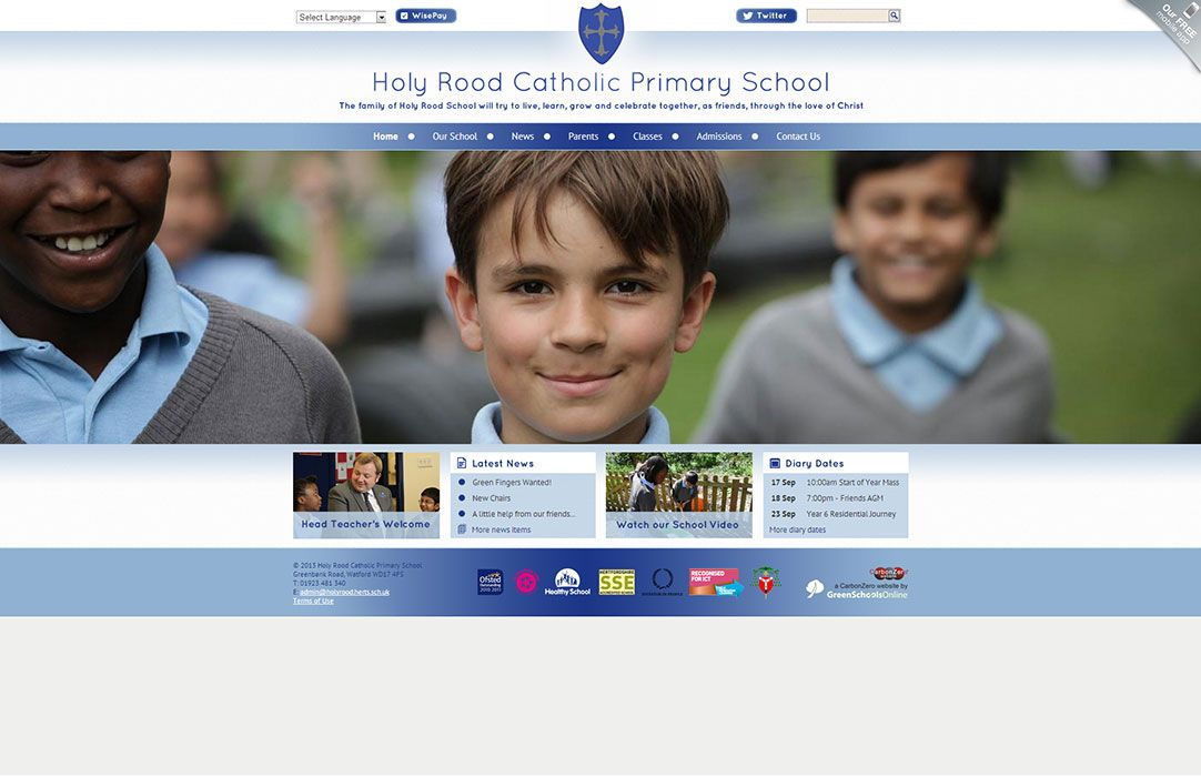 Enlarge Holy Rood Catholic Primary School website design