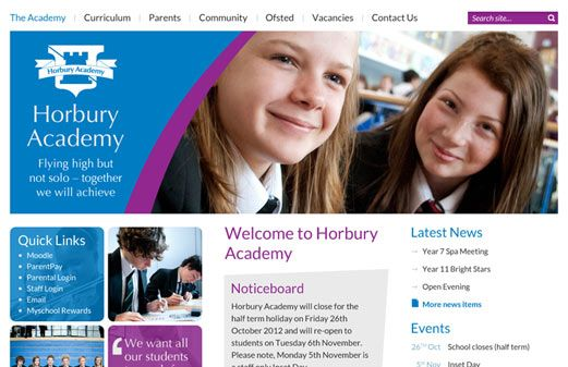 Enlarge Horbury Academy website design