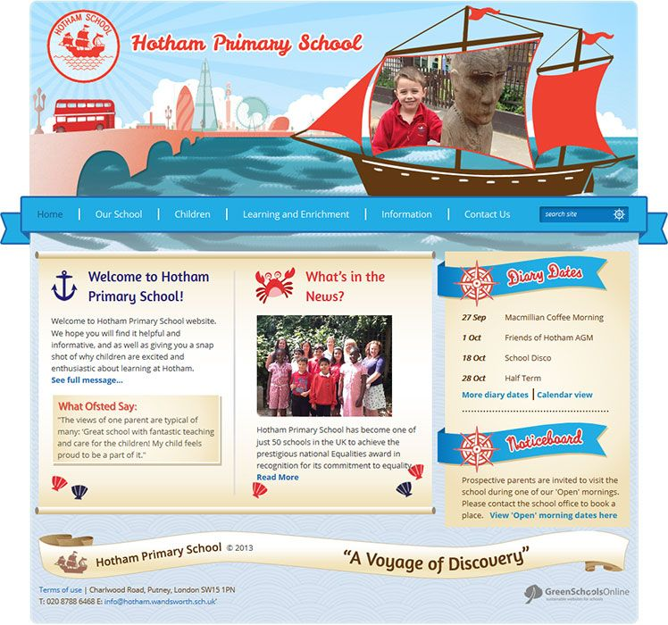 Enlarge Hotham Primary School website design