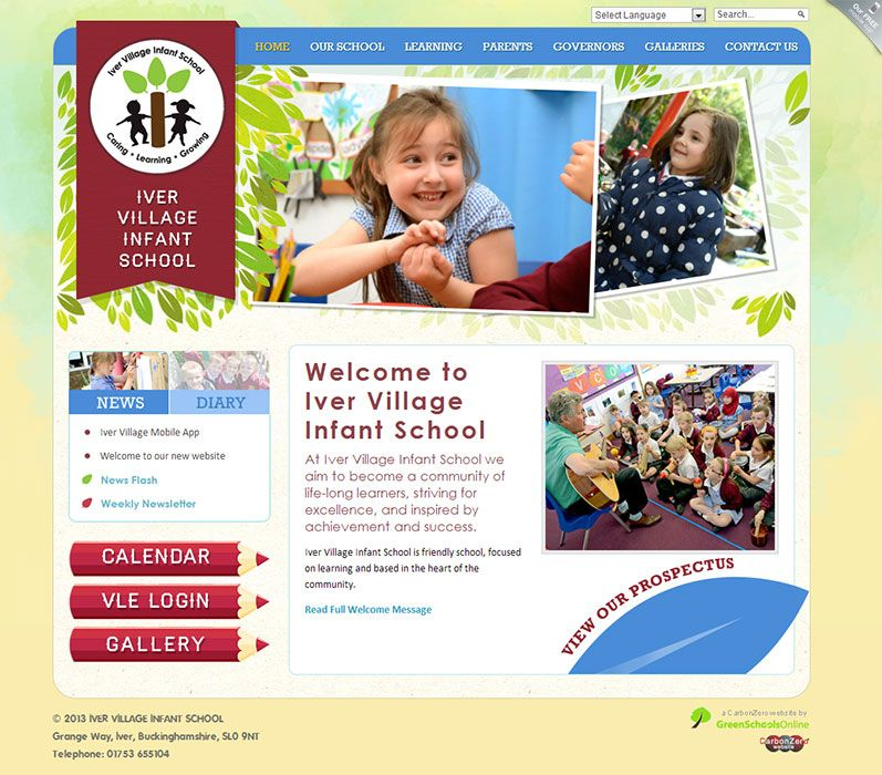 Enlarge Iver Village Infant School website design