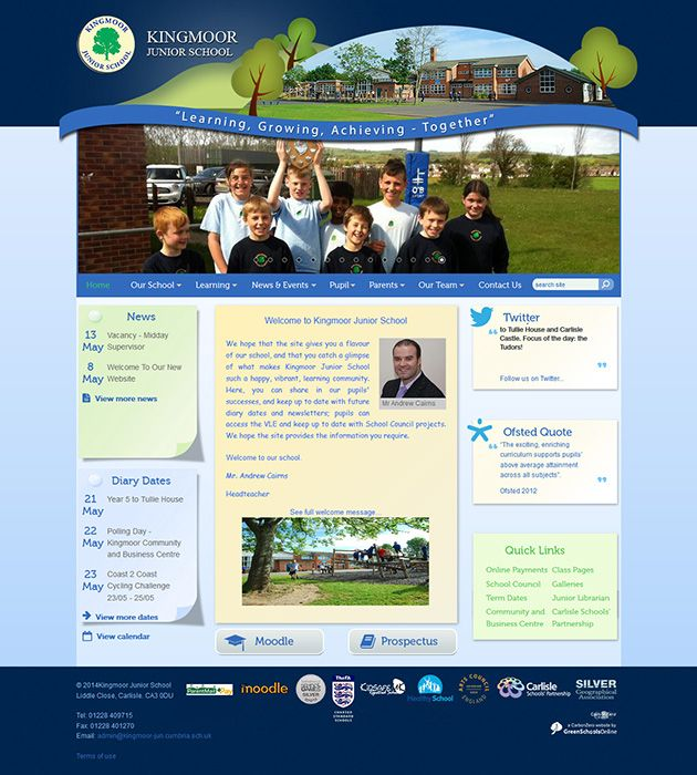 Enlarge Kingmoor Junior School website design