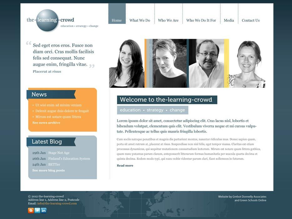 Enlarge the-learning-crowd website design