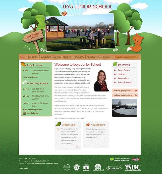 Enlarge Leys Junior School website design