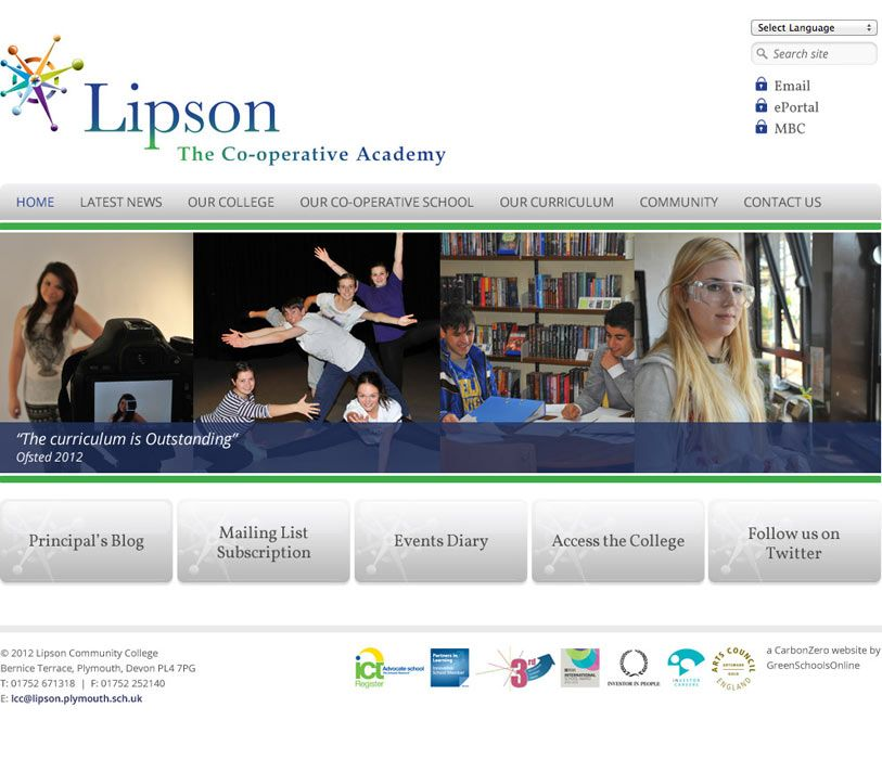 Enlarge Lipson Community College website design