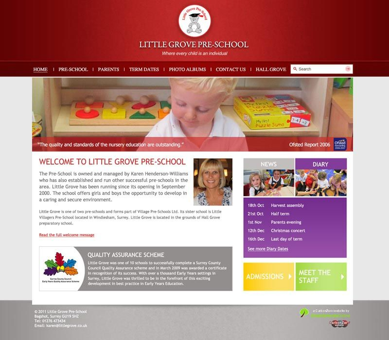 Enlarge Little Grove Pre-School website design