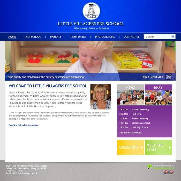 Enlarge Little Villagers Pre-School website design