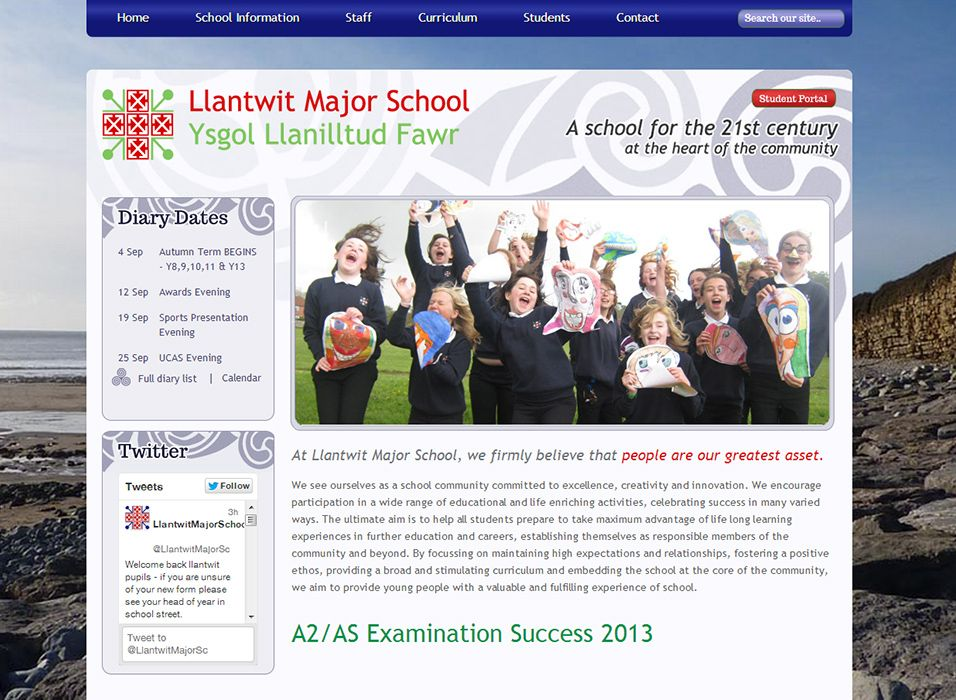 Enlarge Llantwit Major School website design