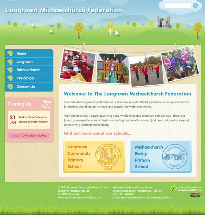 Enlarge Longtown Michaelchurch Federation website design