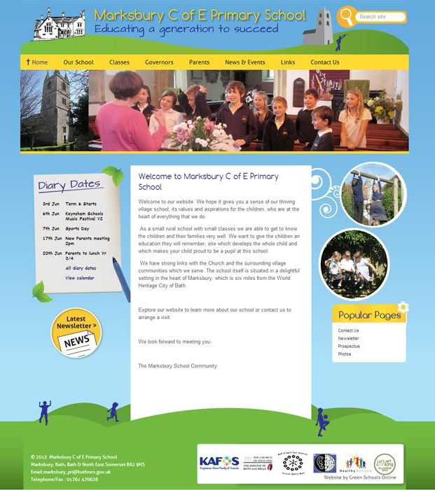 Enlarge Marksbury C of E Primary School website design