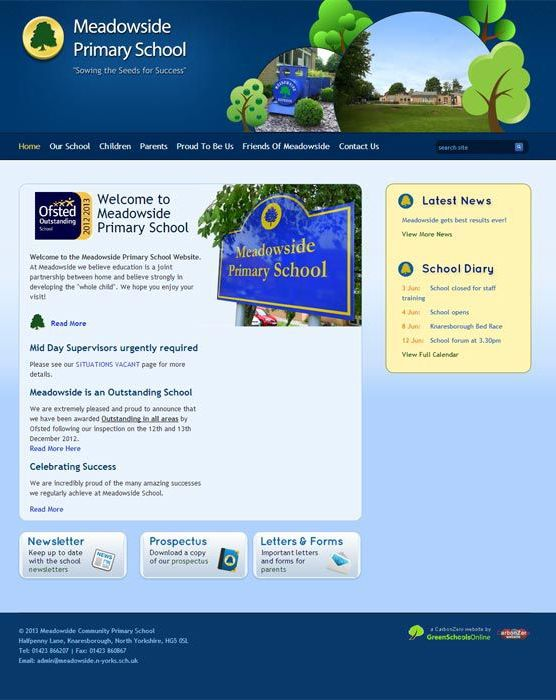 Enlarge Meadowside website design