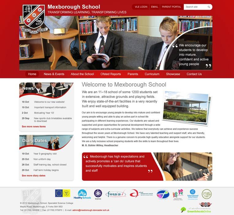 Enlarge Mexborough website design