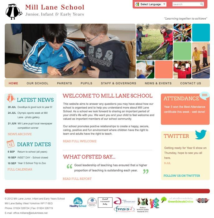 Enlarge Mill Lane website design