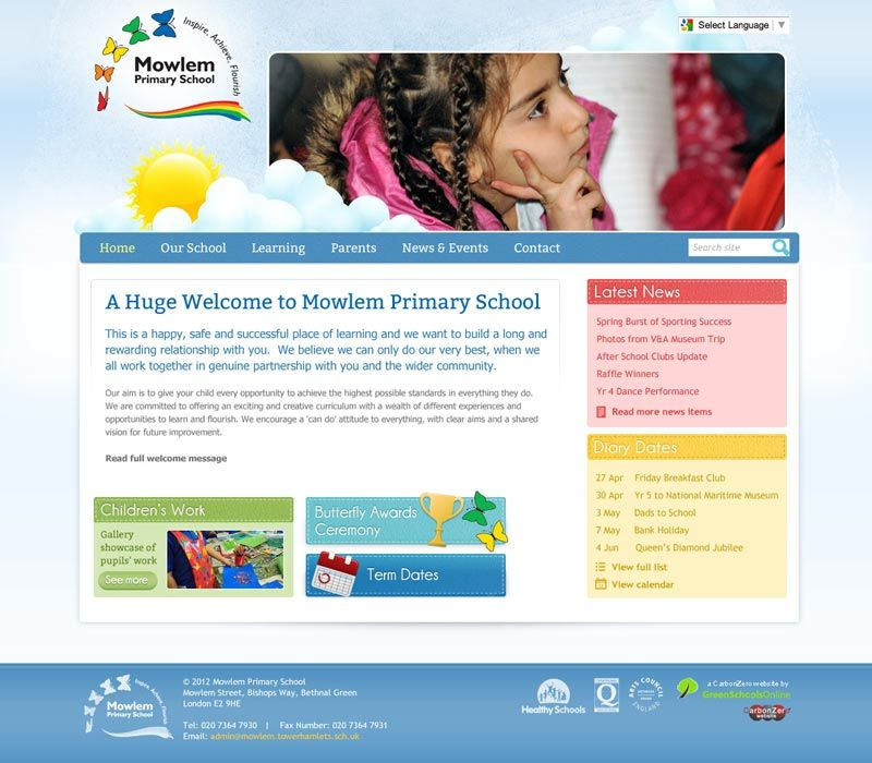 Enlarge Mowlem Primary website design