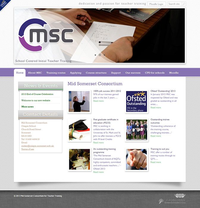 Enlarge MSC Teacher Training website design