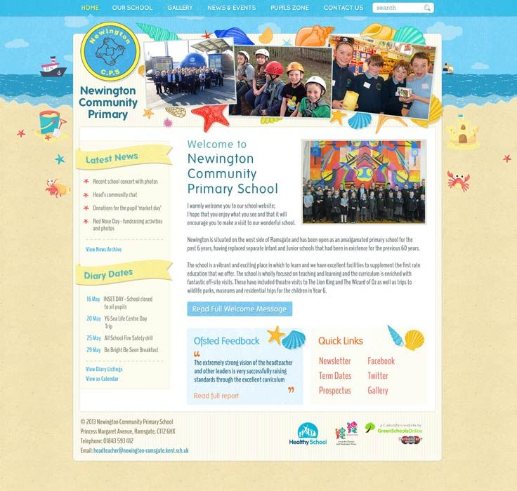 Enlarge Newington Community Primary School website design