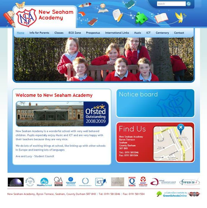 Enlarge New Seaham website design