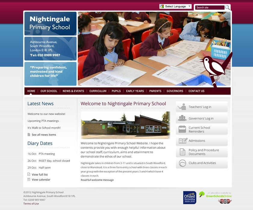 Enlarge Nightingale (Wanstead) website design