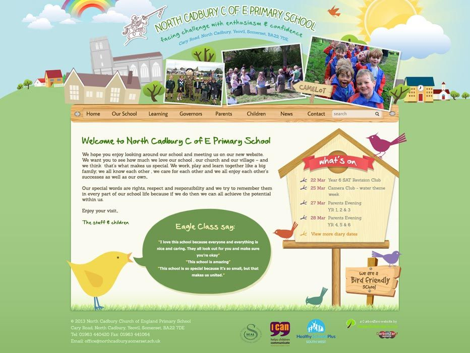 Enlarge North Cadbury C of E Primary School website design