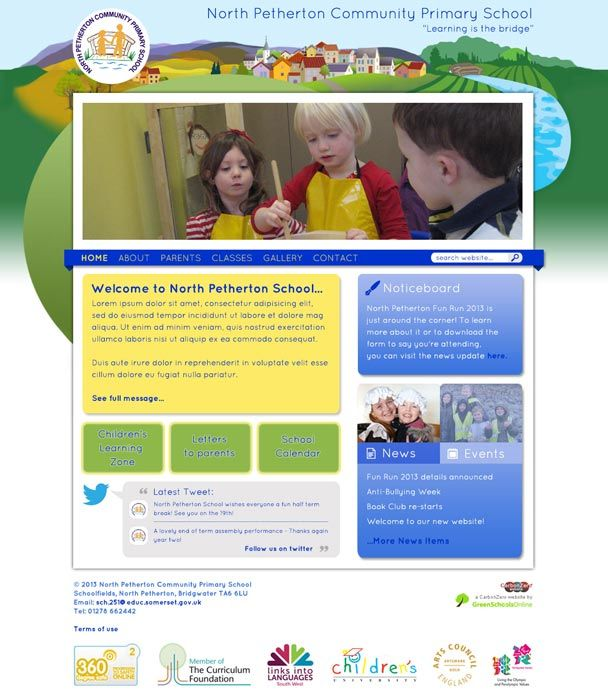 Enlarge North Petherton Primary website design