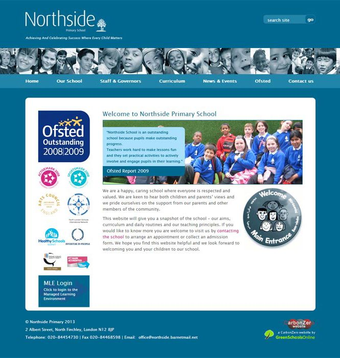 Enlarge Northside Primary website design